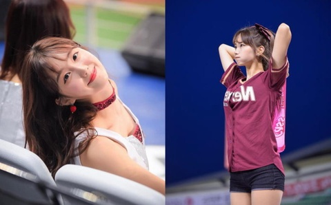 Ve dep goi cam cua cheerleader noi tieng nhat lang the thao Han Quoc hinh anh 7