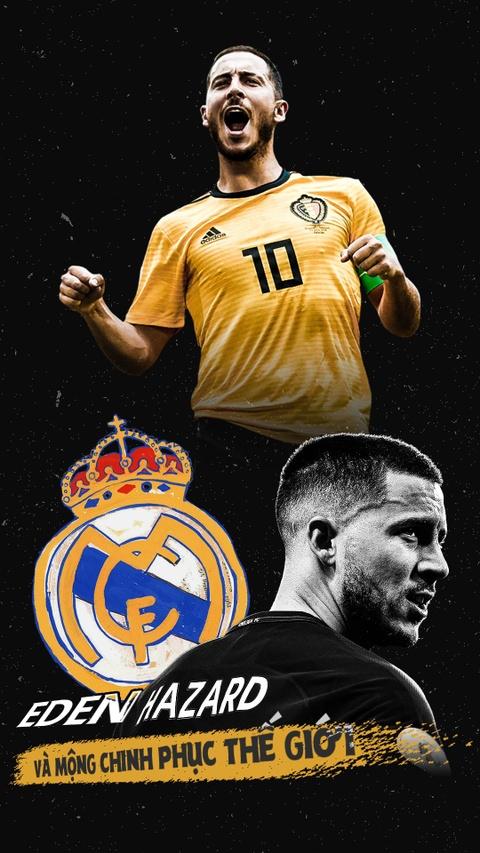 Eden Hazard va giac mong chinh phuc the gioi cung Real Madrid hinh anh 1