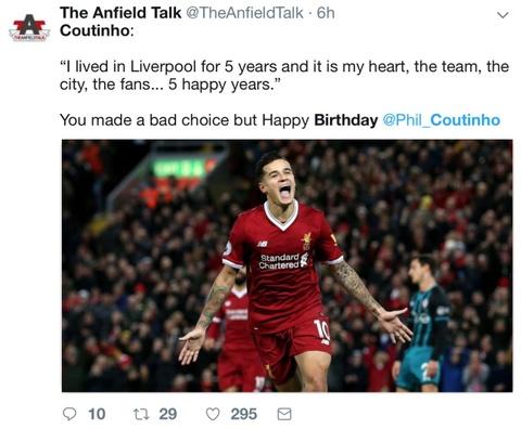Coutinho bi CDV Liverpool che gieu trong ngay sinh nhat hinh anh 7