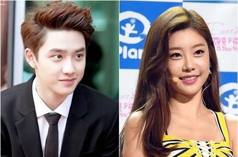D.O (EXO) dinh nghi an yeu Sojin (Girl's Day) hinh anh