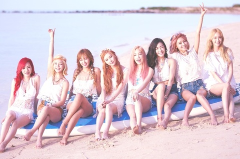 SNSD xinh tuoi trong anh bia dia don 'Party' hinh anh
