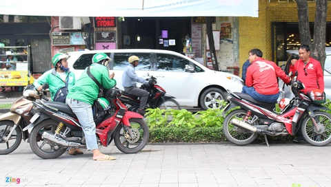 Den luot Grab chieu du tai xe Go-Viet o TP.HCM hinh anh 1