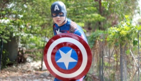 Tim dong vai Captain America de chieu con trai hinh anh