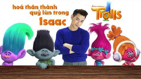Isaac long tieng cho chu quy lun cuc mich trong 'Trolls' hinh anh