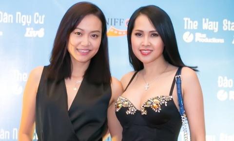 'Gai nhay' Minh Thu mac goi cam di xem phim cua Hong Anh hinh anh