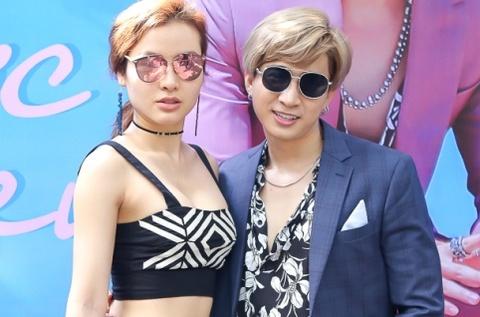 Phuong Trinh Jolie mac goi cam den chuc mung Chi Dan ra mat MV hinh anh