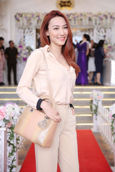 Ngan Khanh du tiec cuoi Le Phuong o Tra Vinh sau 2 nam roi showbiz hinh anh 2