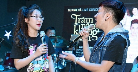 Huong Tram, Siu Black tap luyen cho live show cua Quang Ha hinh anh