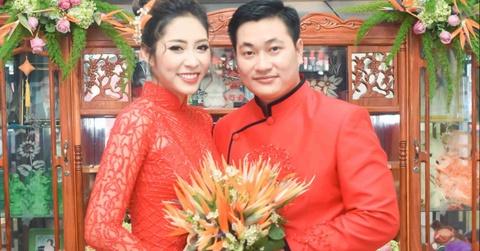 Hoang Map, MC Anh Quan du le dinh hon cua HH Dai duong Dang Thu Thao hinh anh