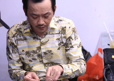 Hoai Linh, Truong Giang ban ron chuan bi quay chuong trinh Tet hinh anh