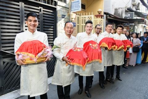 Dien vien Vu Ngoc Anh va Anh Tai hanh phuc trong le ruoc dau hinh anh 6