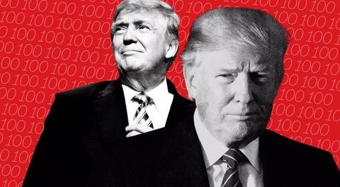 Phat hanh sach ve Donald Trump trong dip ong toi Ha Noi hinh anh