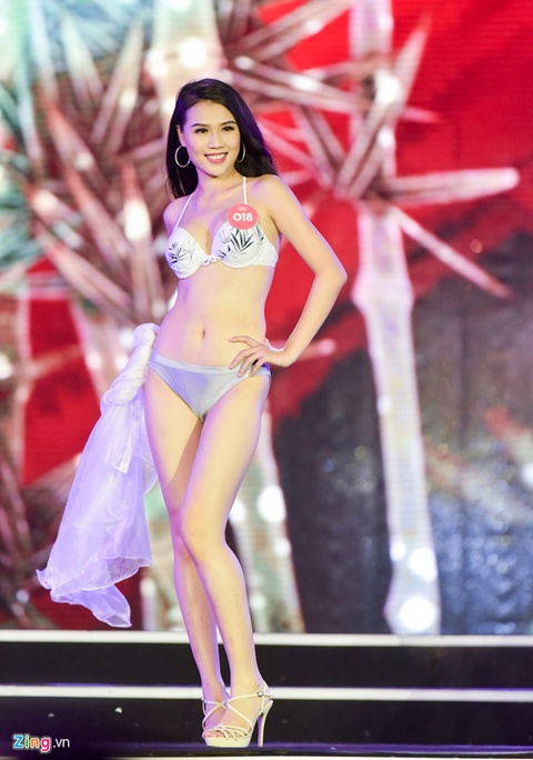Thi sinh Hoa hau Viet Nam phia Bac nong bong voi bikini hinh anh 5