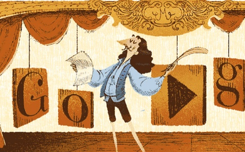 Google doodle vinh danh Moliere hinh anh
