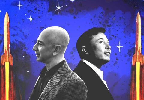 Hai ty phu Elon Musk va Jeff Bezos, ai se den Hoa tinh truoc? hinh anh