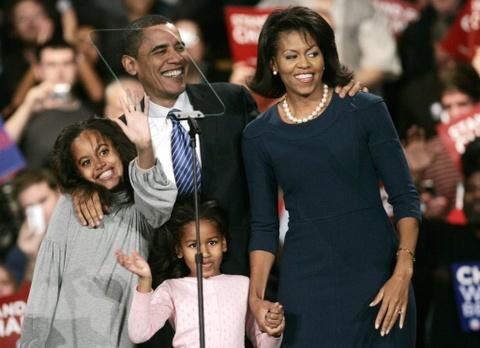 Chien thang o Iowa cung co niem tin cua ba Michelle Obama hinh anh