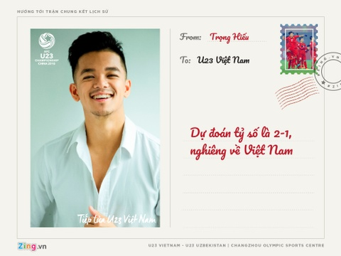 Huong Tram, Soobin Hoang Son gui thiep chuc U23 Viet Nam hinh anh 10