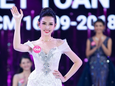Nguyen Thuc Thuy Tien thay A hau 2 Thuy An du thi Hoa hau Quoc te 2018 hinh anh