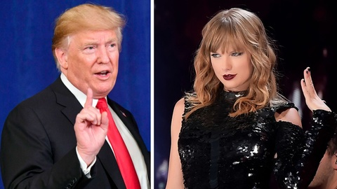 Tong thong Trump vui ve nghe 'Blank Space' cua Taylor Swift khi lai xe hinh anh