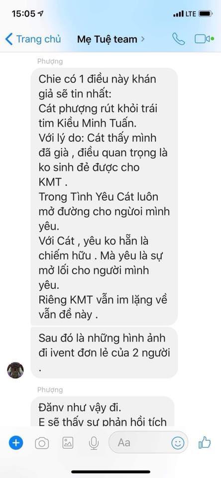 Khan gia chi trich Cat Phuong sau khi An Nguy cong khai tin nhan PR hinh anh 1