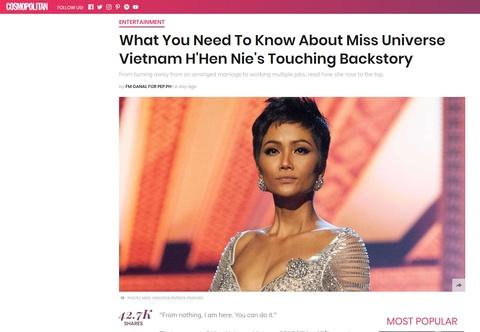 Bao quoc te dong loat khen ngoi H'Hen Nie sau Hoa hau Hoan vu 2018 hinh anh 5