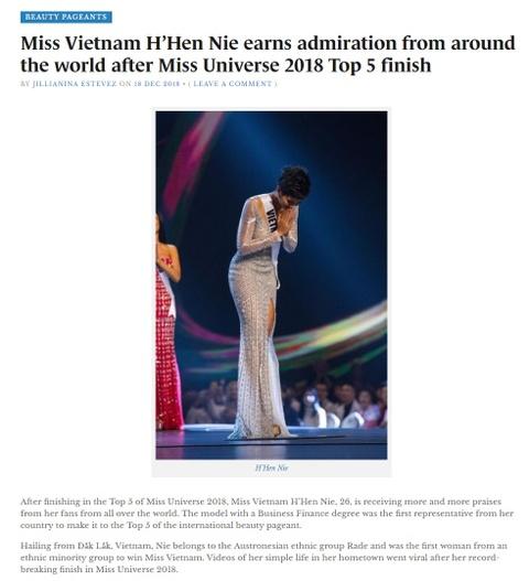 Bao quoc te dong loat khen ngoi H'Hen Nie sau Hoa hau Hoan vu 2018 hinh anh 8