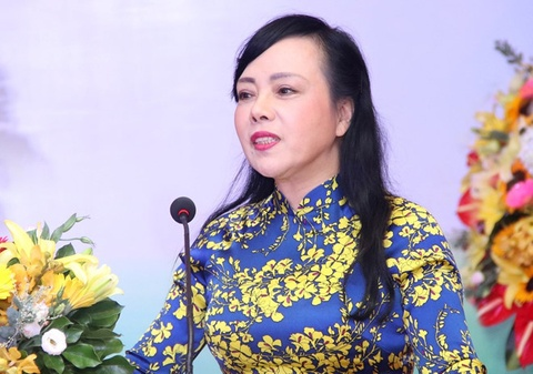 Quoc hoi bo phieu kin mien nhiem Bo truong Y te Nguyen Thi Kim Tien hinh anh