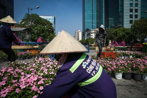 Dan heo linh vat du mau sac o duong hoa Nguyen Hue truoc gio khai mac hinh anh 10