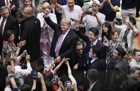 TT Trump khien nguoi Nhat thich thu khi di xem sumo hinh anh 2