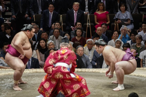 TT Trump khien nguoi Nhat thich thu khi di xem sumo hinh anh 6