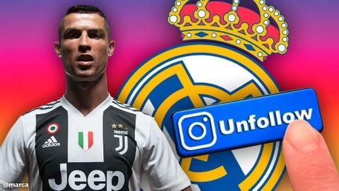 Ronaldo bo theo doi tai khoan cua Real Madrid tren mang xa hoi hinh anh
