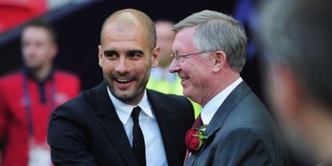 Pep Guardiola, CDV Man City gui thong diep den Sir Alex hinh anh