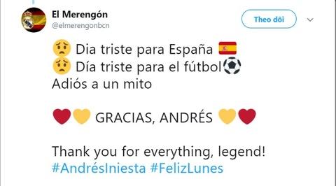 Andres Iniesta gia tu doi tuyen: Tam biet va cam on huyen thoai hinh anh 3