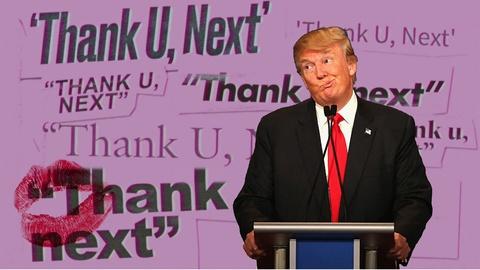 Clip che Tong thong Trump hat Thank U, Next hinh anh