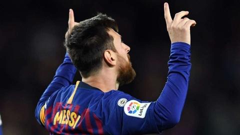 Lionel Messi xac lap ky luc ghi ban tai La Liga hinh anh