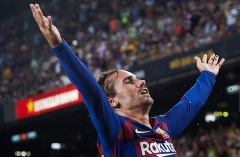 Messi va Suarez phan khich sau ban thang dep cua Griezmann hinh anh