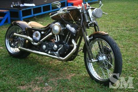 Chiec Harley-Davidson do kieu Bobber dau tien tai VN hinh anh