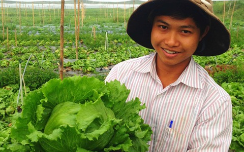 Nguoi Nhat Ban sang Lam Dong trong xa lach khung hinh anh