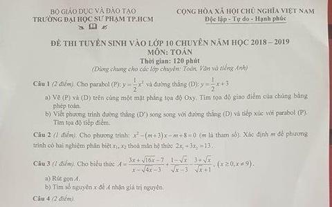 De thi Toan vao lop 10 chuyen Trung hoc Thuc hanh TP.HCM hinh anh