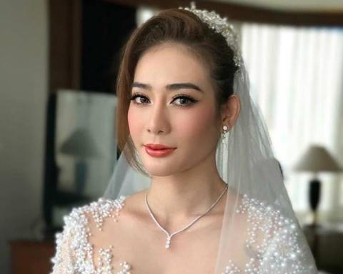 Kim Nha BB&BG xinh dep trong dam cuoi o Thai Lan hinh anh