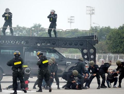 Công an Hà Nội tung quân bảo vệ hội nghị thượng đỉnh Mỹ - Triều