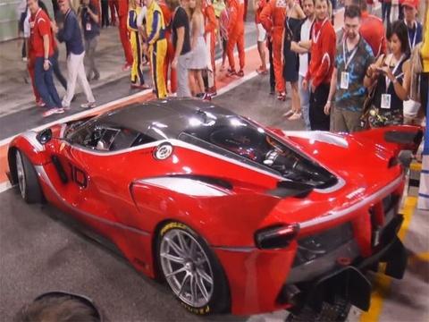 Ferrari FXX K xuat hien tren duong thu hinh anh