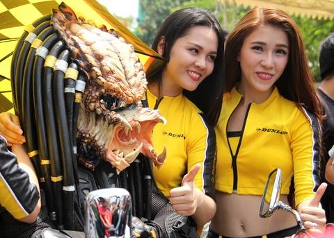 Dan chan dai tai Vietnam Motorbike Festival 2015 hinh anh