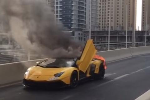 Lamborghini Aventador 50 Anniversario Roadster bi lua thieu rui hinh anh