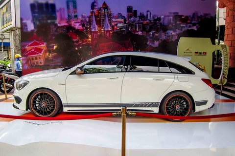 Hatchback hang hiem CLA 45 AMG Shooting Brake o Sai Gon hinh anh