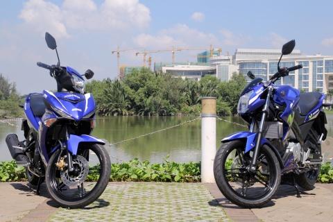Yamaha Exciter 150 va FZ150i Movistar do dang hinh anh