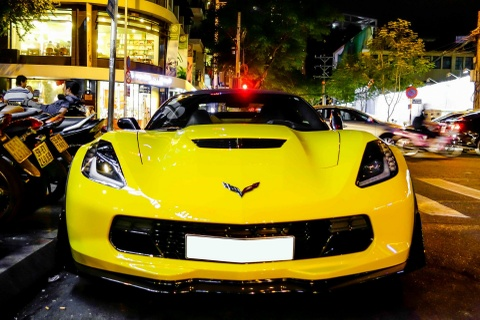 Sieu xe Corvette Z06 mui tran dau tien tai Viet Nam hinh anh 2