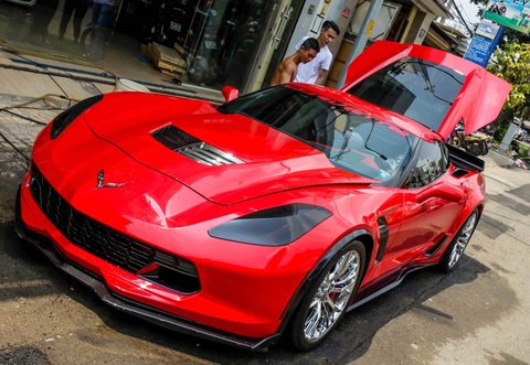Sieu xe Chevrolet Corvette Z06 lap ghe xe dua ve Viet Nam hinh anh