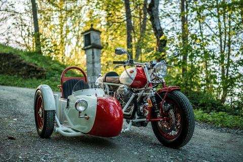 Do Moto Guzzi 40 nam tuoi thanh sidecar hinh anh 1