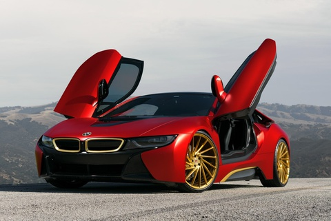 BMW i8 do phong cach Iron Man hinh anh